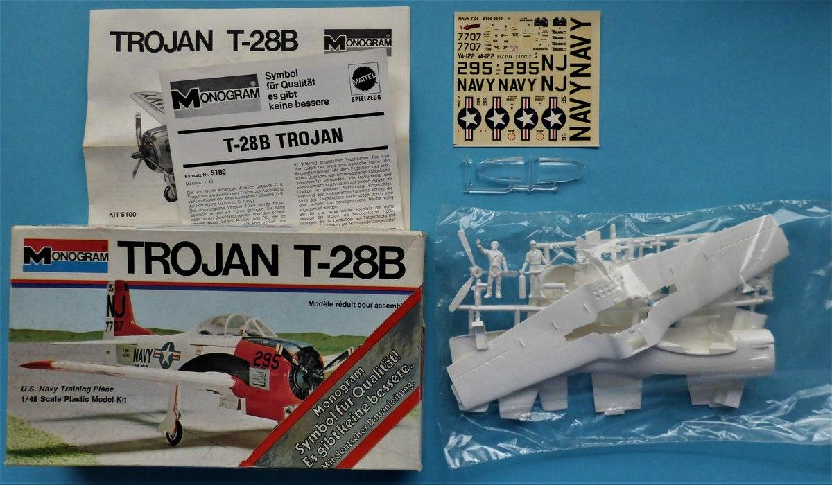 Monogram-5100-T-28B-Trojan-2 Kit-Archäologie: Monogram T-28B Trojan in 1:48 #5100