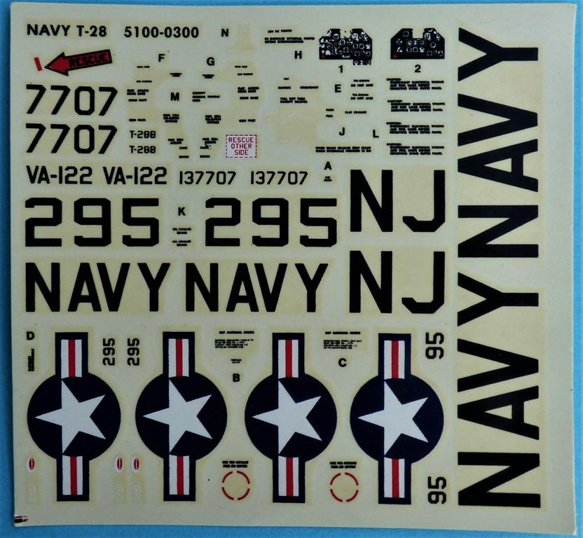 Monogram-5100-T-28B-Trojan-28 Kit-Archäologie: Monogram T-28B Trojan in 1:48 #5100