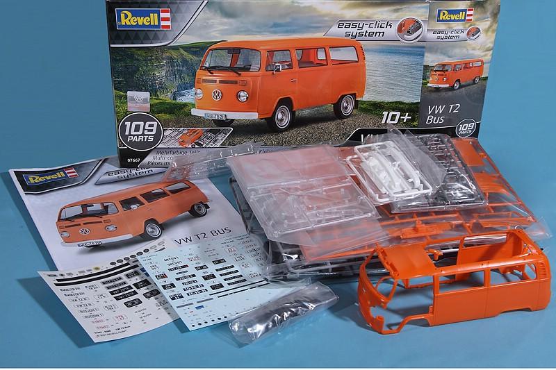REvell-07667-VW-T2-Bus-3 VW T2 Bus in 1:24 von Revell #07667