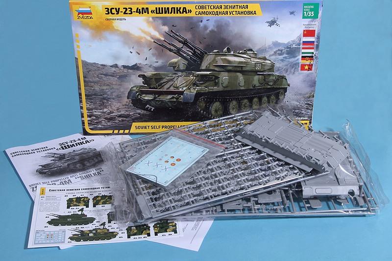 Zvezda-3635-ZSU-23-4-Shilka-3 FLAKpanzer ZSU 23-4M Shilka in 1:35 von Zvezda #3635