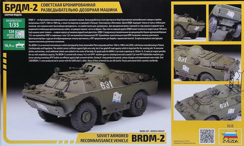 Zvezda-3638-BRDM-2-2 Aufklärungspanzer BRDM-2 in 1:35 von ZVEZDA # 3638