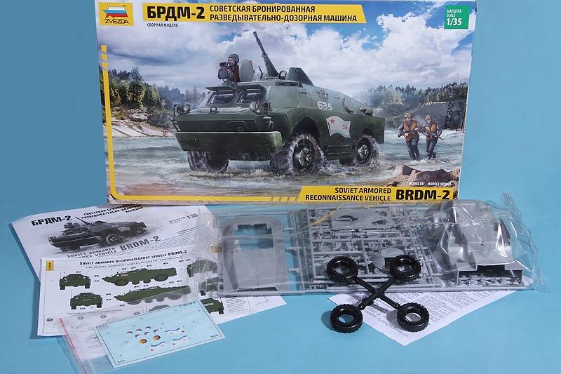 Zvezda-3638-BRDM-2-3 Aufklärungspanzer BRDM-2 in 1:35 von ZVEZDA # 3638