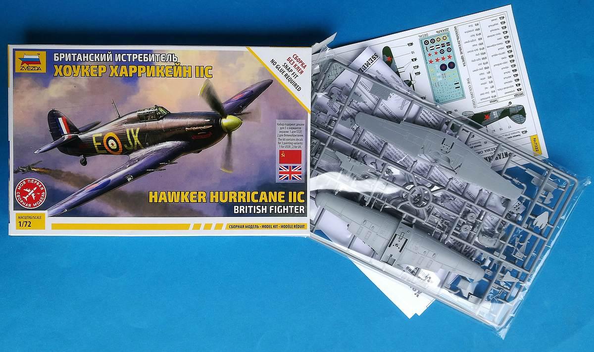 Zvezda-7322-Hawker-Hurricane-Mk.-II-C-11 Hawker Hurricane Mk. II C in 1:72 von Zvezda #7322