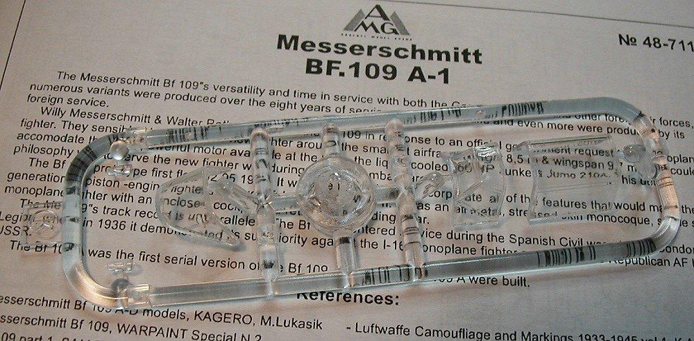 AMG-48711-Messerschmitt-Bf-109-A-1-27 Messerschmitt Bf 109 A-1 in 1:48 von AMG # 48711