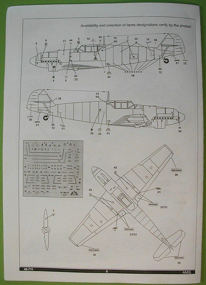 AMG-48711-Messerschmitt-Bf-109-A-1-6 Messerschmitt Bf 109 A-1 in 1:48 von AMG # 48711