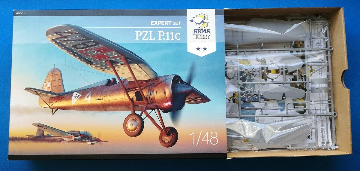 ArmaHobby-40001-PZL-P-1 PZL P.11 in 1:48 von Arma Hobby # 4001
