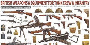 British Weapons & Equipment for Tank Crew & Infantry 1:35 Miniart (#35361)
