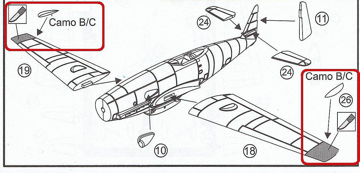 Brengun-BRP-144015-Me-309-V1-und-V-2-20 Messerschmitt Me 309 V1 / V2 in 1:144 von Brengun #144015