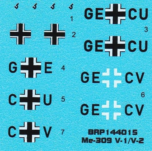 Brengun-BRP-144015-Me-309-V1-und-V-2-21 Messerschmitt Me 309 V1 / V2 in 1:144 von Brengun #144015