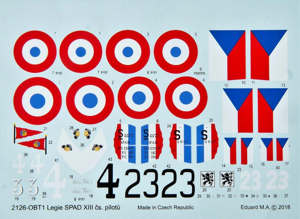 Eduard-2126-Legie-Czech-SPADs-39 Legie - SPAD XIIIs flown by Czechoslovak pilots 1/72 Eduard #2126