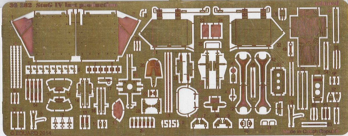 Eduard-36282-StuG-IV-last-production Eduard Detailsets für StuG III und StuG IV # 36281 und 36282