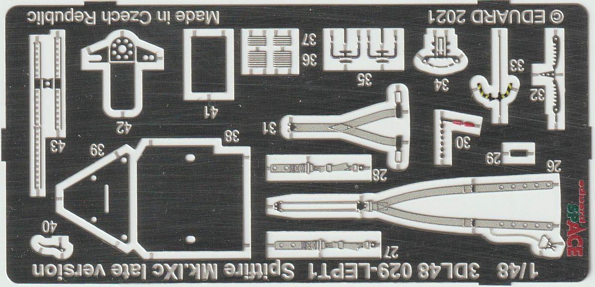 Eduard-3DL48029-Spitfire-Mk.-IXc-late-SPACESpace-Spitfire-Mk.IXc-Bild-1-3 Spitfire Mk. II landing flaps und Mk. I SPACE in 1:48 von Eduard #481055