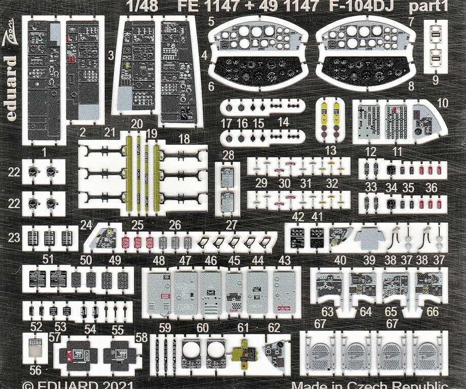 Eduard-491147-und-EX-748-Aetzteile-und-Maken-fuer-die-F-104DJ-Kinetic-4 Ätzteile und Masken für die F-104DJ (Kinetic) von Eduard #491147 und #EX748