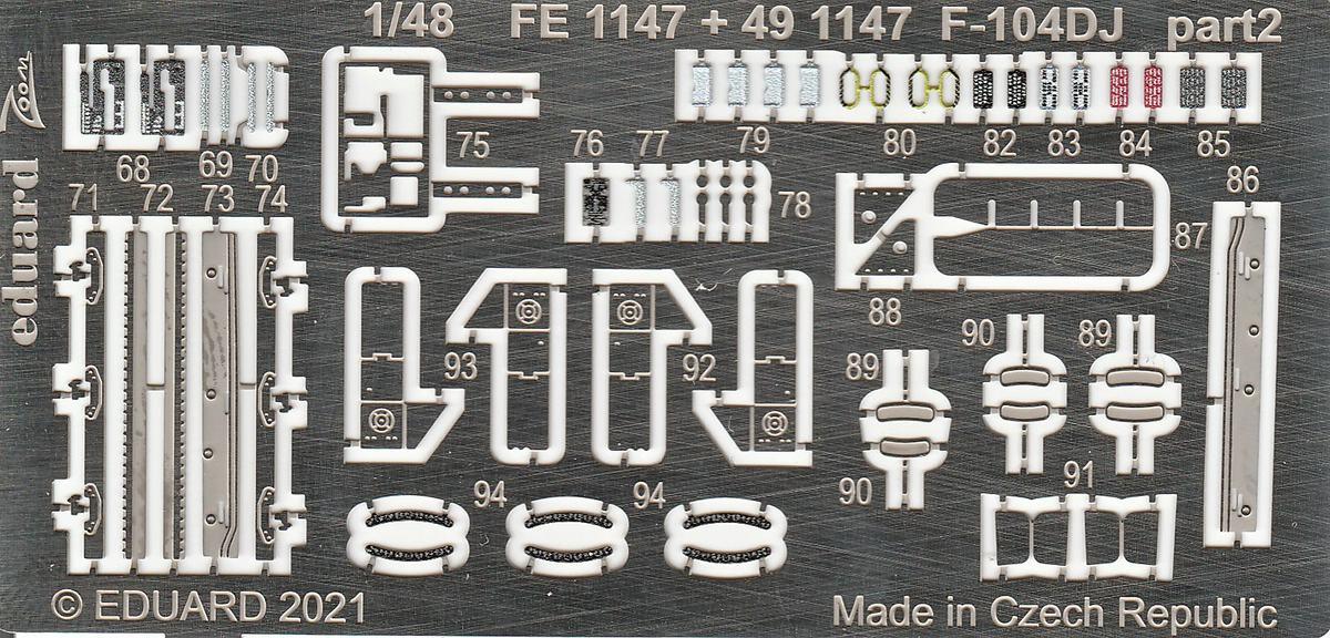 Eduard-491147-und-EX-748-Aetzteile-und-Maken-fuer-die-F-104DJ-Kinetic-5 Ätzteile und Masken für die F-104DJ (Kinetic) von Eduard #491147 und #EX748