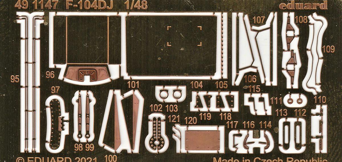 Eduard-491147-und-EX-748-Aetzteile-und-Maken-fuer-die-F-104DJ-Kinetic-6 Ätzteile und Masken für die F-104DJ (Kinetic) von Eduard #491147 und #EX748