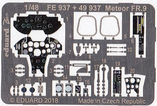 Eduard-49937-Meteor-FR.9-Interior-2 Eduard-Zubehör für die Meteor FR.9 von Airfix in 1:48 #49937 und FE 937
