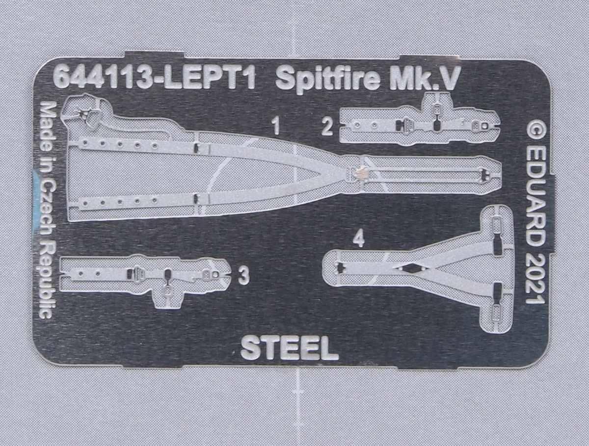 Eduard-644113-Spitfire-MK.V-Loeoek-4 Löök und SPACE Sets für Spitfire Mk. V in 1:48 von Eduard #644017 und 3DL48031