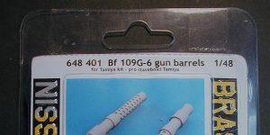 Gun Barrels für die Bf 109 G-6 von Tamiya in 1:48 Eduard # 648401