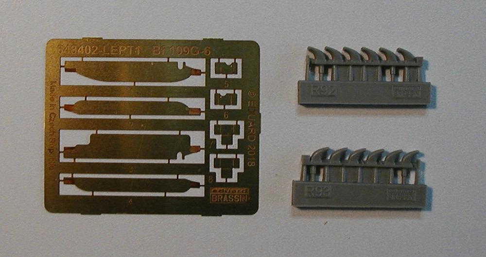 Eduard-648402-Nf-109-G-6-Exhaust-fuer-Tamiya-4 Exhaust stacks für Bf 109 G-6 von Tamiya in 1:48 Eduard # 648402