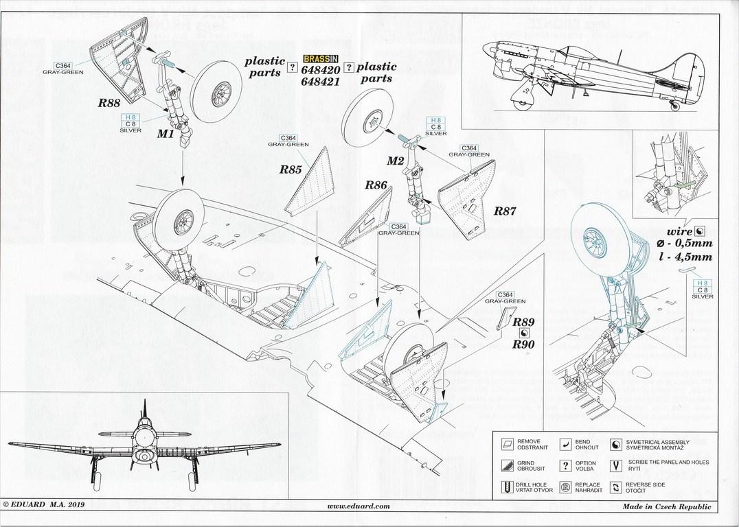 Eduard-648446-Tempest-Mk.-V-undercarriage-BRONZE-15 Eduard Tempest Mk V Undercarriage legs BRONZE in 1:48 #648446