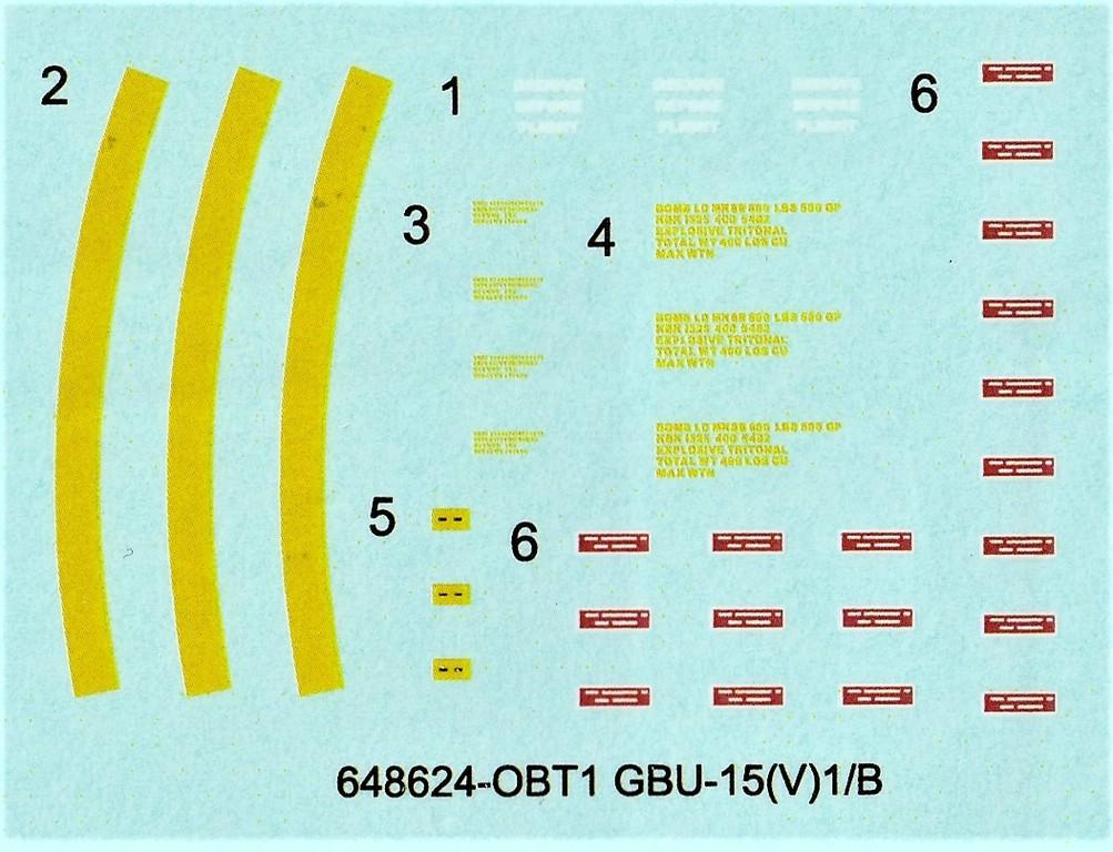 Eduard-648624-GBU-15-7 Gleitbombe GBU-15(V)1/B von Eduard in 1:48 #648624