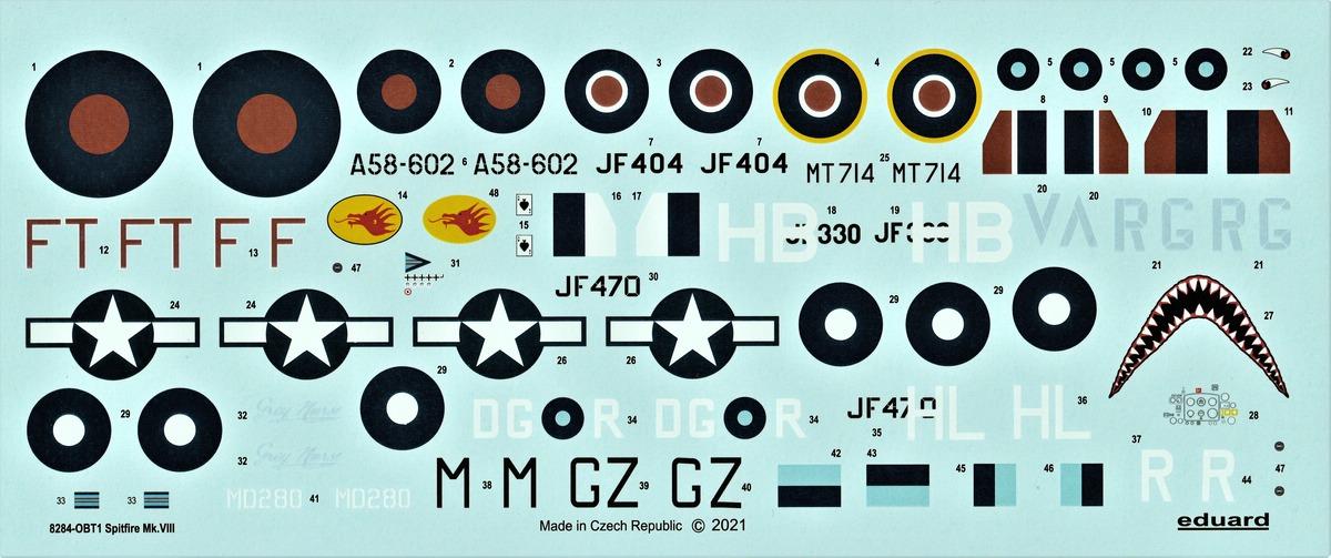 Eduard-8284-Spitfire-Mk.-VIII-ProfiPack-20 Spitfire Mk. VIII in 1:48 als Eduard ProfiPack Wiederauflage # 8284