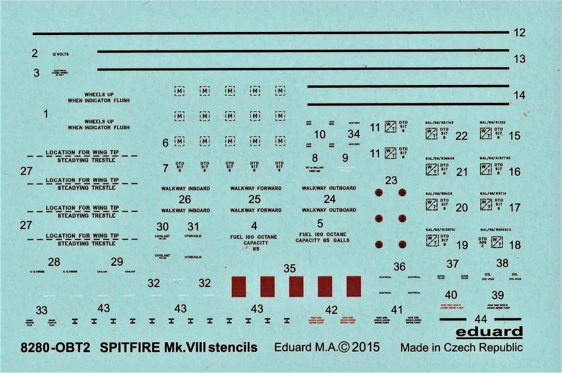 Eduard-8284-Spitfire-Mk.-VIII-ProfiPack-21 Spitfire Mk. VIII in 1:48 als Eduard ProfiPack Wiederauflage # 8284