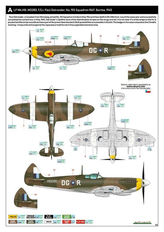 Eduard-8284-Spitfire-Mk.-VIII-ProfiPack-34 Spitfire Mk. VIII in 1:48 als Eduard ProfiPack Wiederauflage # 8284