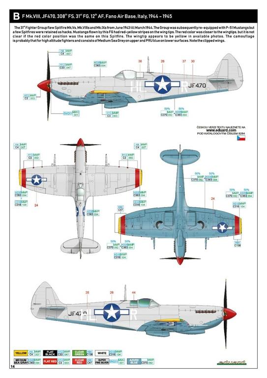 Eduard-8284-Spitfire-Mk.-VIII-ProfiPack-35 Spitfire Mk. VIII in 1:48 als Eduard ProfiPack Wiederauflage # 8284
