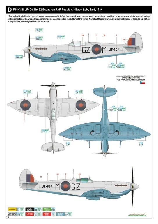 Eduard-8284-Spitfire-Mk.-VIII-ProfiPack-37 Spitfire Mk. VIII in 1:48 als Eduard ProfiPack Wiederauflage # 8284