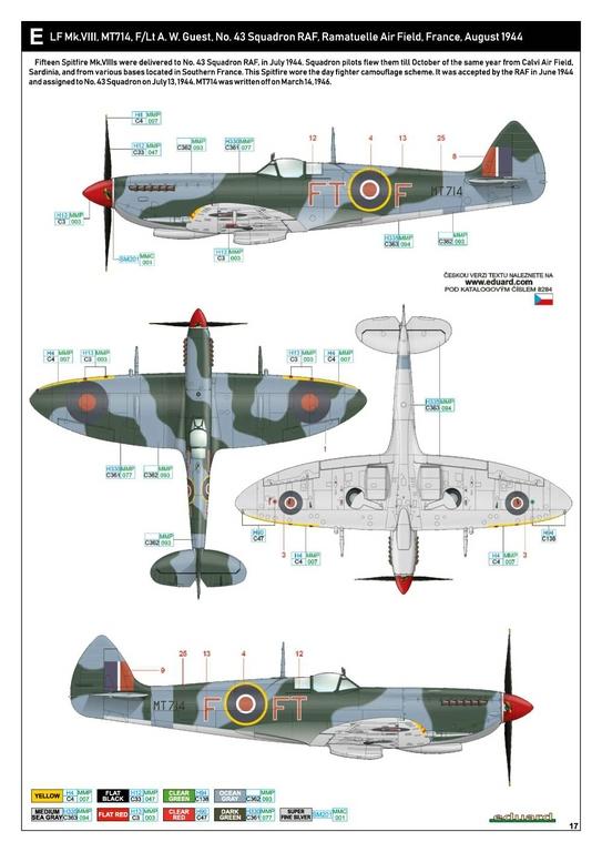 Eduard-8284-Spitfire-Mk.-VIII-ProfiPack-38 Spitfire Mk. VIII in 1:48 als Eduard ProfiPack Wiederauflage # 8284