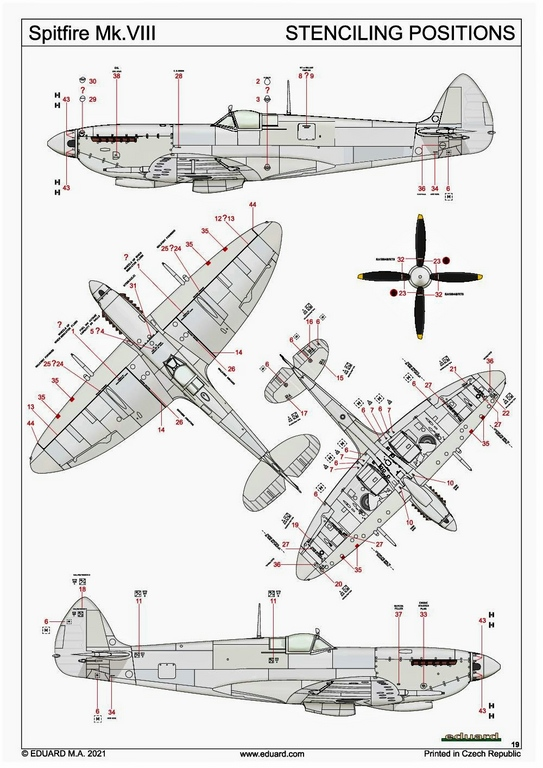 Eduard-8284-Spitfire-Mk.-VIII-ProfiPack-40 Spitfire Mk. VIII in 1:48 als Eduard ProfiPack Wiederauflage # 8284