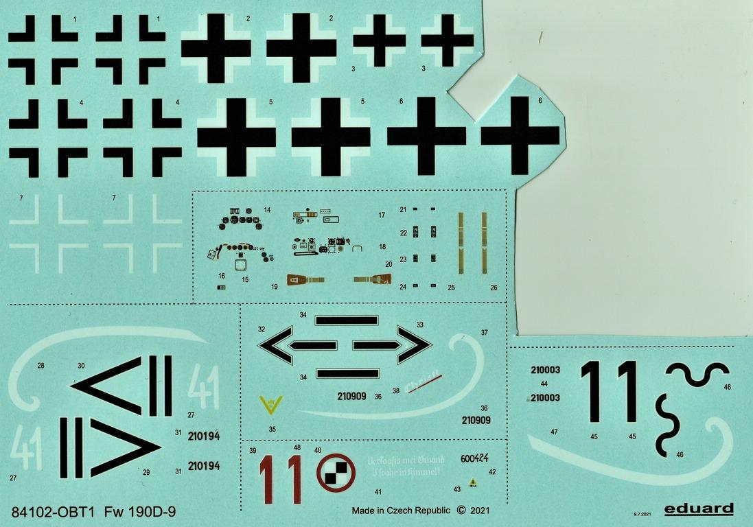 Eduard-84102-FW-190-D-9-WEEKEND-12 Focke-Wulf Fw 190D-9 WEEKEND in1:48 von Eduard #84102