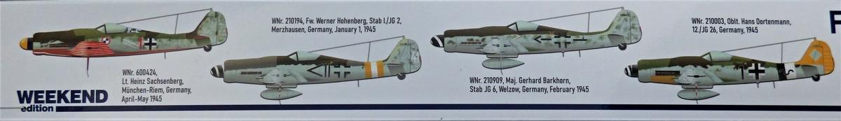 Eduard-84102-FW-190-D-9-WEEKEND-2 Focke-Wulf Fw 190D-9 WEEKEND in1:48 von Eduard #84102