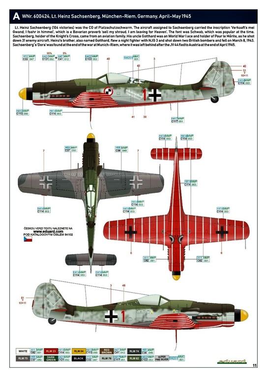 Eduard-84102-FW-190-D-9-WEEKEND-24 Focke-Wulf Fw 190D-9 WEEKEND in1:48 von Eduard #84102