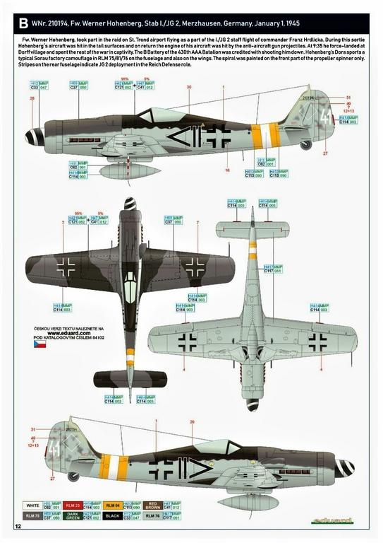 Eduard-84102-FW-190-D-9-WEEKEND-25 Focke-Wulf Fw 190D-9 WEEKEND in1:48 von Eduard #84102