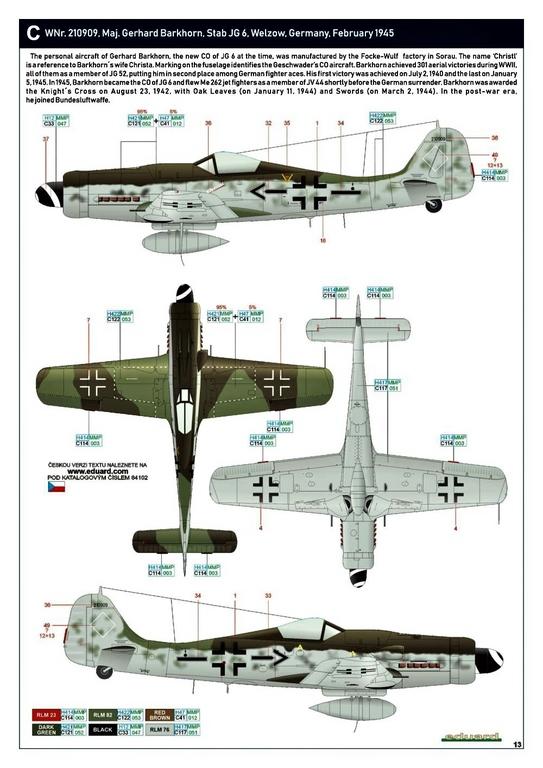 Eduard-84102-FW-190-D-9-WEEKEND-26 Focke-Wulf Fw 190D-9 WEEKEND in1:48 von Eduard #84102
