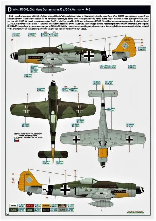 Eduard-84102-FW-190-D-9-WEEKEND-27 Focke-Wulf Fw 190D-9 WEEKEND in1:48 von Eduard #84102