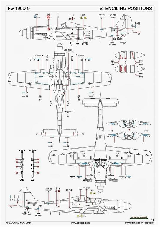 Eduard-84102-FW-190-D-9-WEEKEND-28 Focke-Wulf Fw 190D-9 WEEKEND in1:48 von Eduard #84102