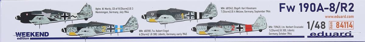 Eduard-84114-Fw-190-A8-R2-WEEKEND-2 Focke Wulf FW 190 A-8/R2 WEEKEND in 1:48 von Eduard # 84114