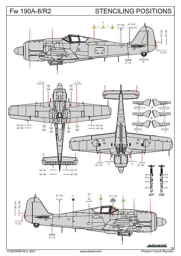 Eduard-84114-Fw-190-A8-R2-WEEKEND-38 Focke Wulf FW 190 A-8/R2 WEEKEND in 1:48 von Eduard # 84114