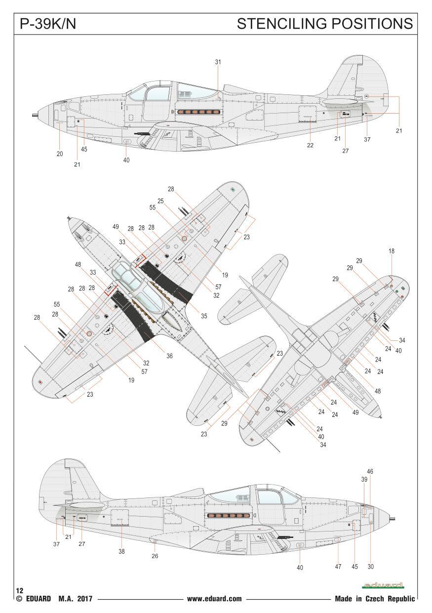 Eduard-84161-P-39-KN-Airacobra-WEEKEND-12 P-39 K/N Airacobra WEEKEND in 1.48 von Eduard# 84161