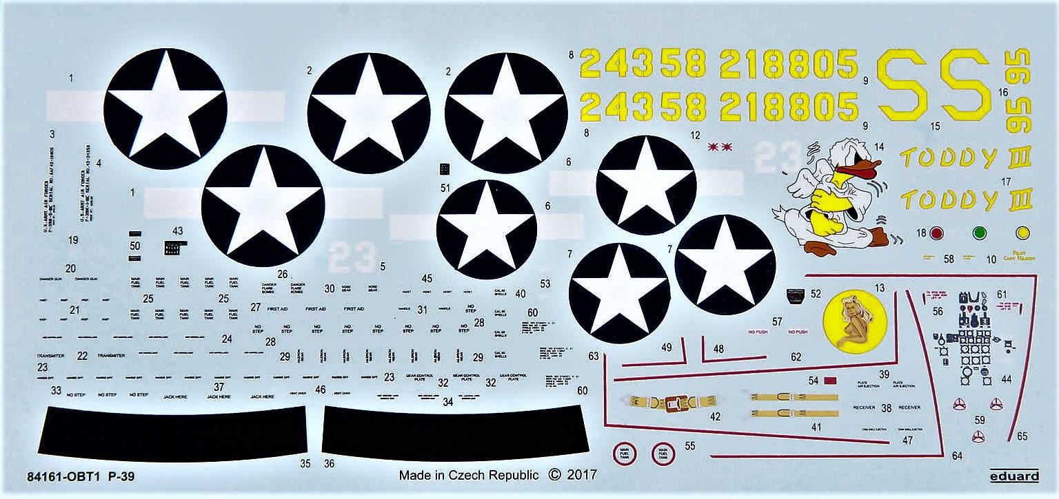 Eduard-84161-P-39-KN-Airacobra-WEEKEND-19 P-39 K/N Airacobra WEEKEND in 1.48 von Eduard# 84161