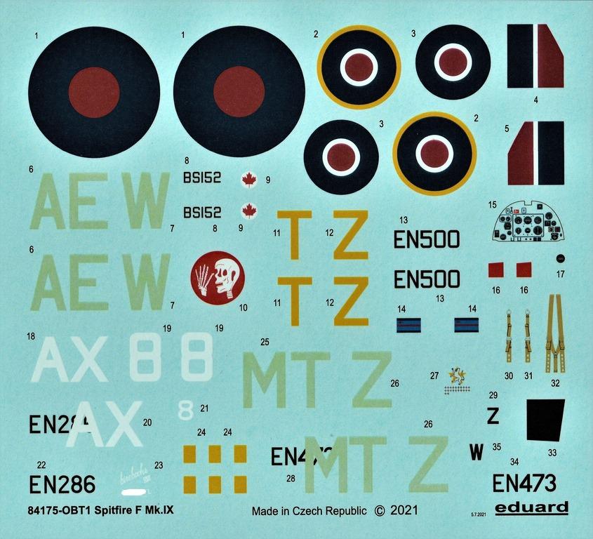 Eduard-84175-Spitfire-Mk.-IX-WEEKEND-16 Neue Weekend-Edition der Spitfire F Mk.IX von Eduard #84175