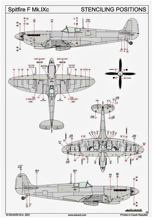 Eduard-84175-Spitfire-Mk.-IX-WEEKEND-32 Neue Weekend-Edition der Spitfire F Mk.IX von Eduard #84175