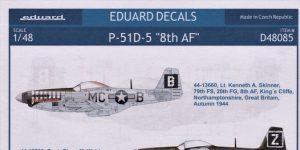 """Eduard Decals für P-51 D-5 """"8th AF"""" in 1.48 #D48085"""