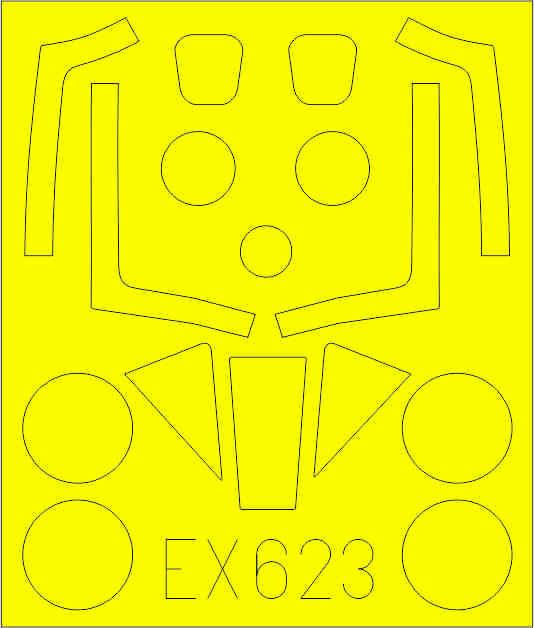 Eduard-EX-623-Meteor-FR.9-Masken Eduard-Zubehör für die Meteor FR.9 von Airfix in 1:48 # FE 938 und EX 623