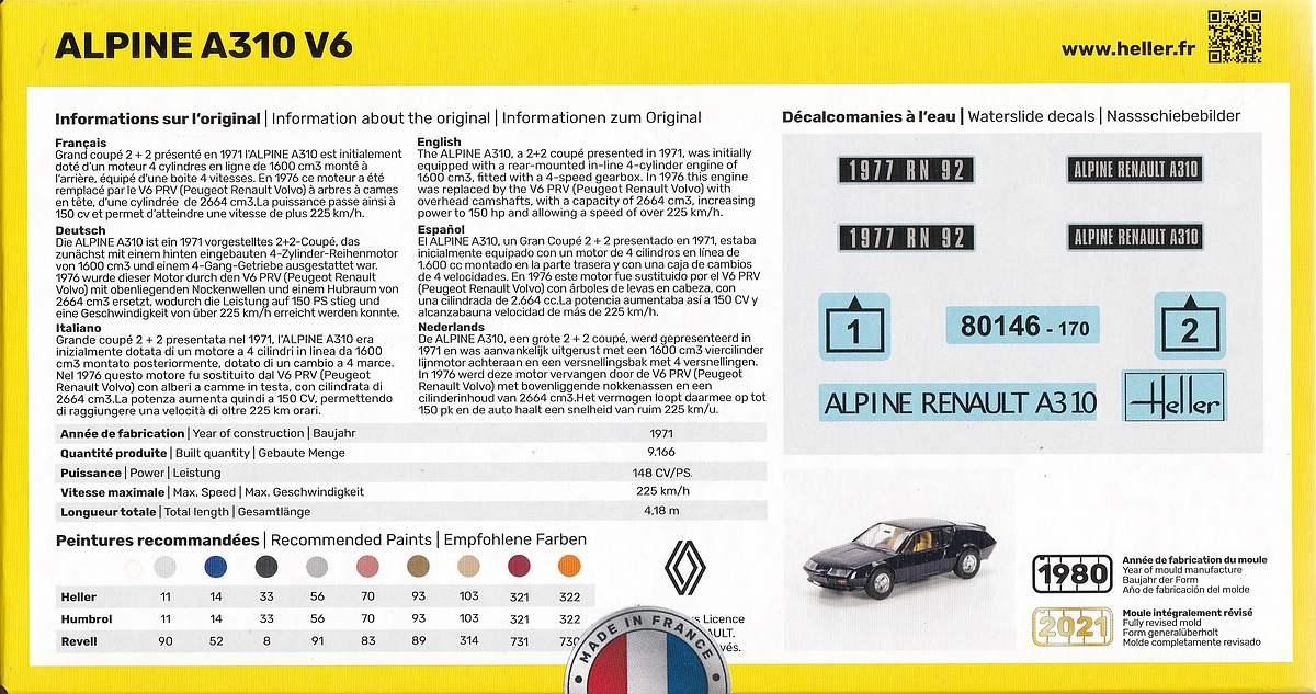 Heller-80146-Renault-Alpine-A-310-V6-3 Renault Alpine A 310 V6 in 1:43 von Heller # 80146