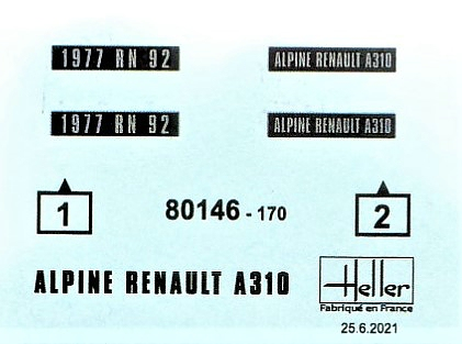 Heller-80146-Renault-Alpine-A-310-V6-4 Renault Alpine A 310 V6 in 1:43 von Heller # 80146