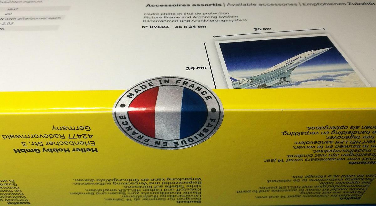 Heller-80445-Concorde-Air-France-18 Concorde Air France in 1:125 von Heller #80445